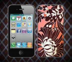 Coral Quilted Pattern Ships For Apple Phone, IPhone 4/4S Case, IPhone 5 Case, Cover Plastic
